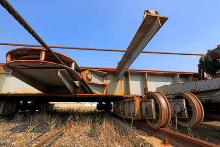 transition carriage in a shipyard, Luannan County, Hebei Province, China