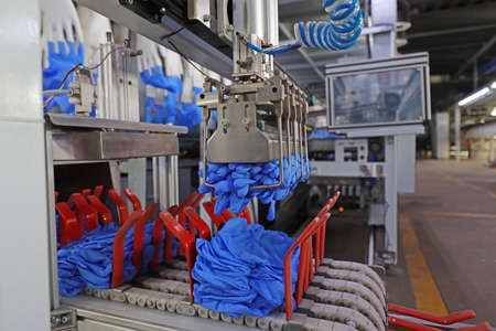 Automatic mechanical equipment in the production line of nitrile gloves