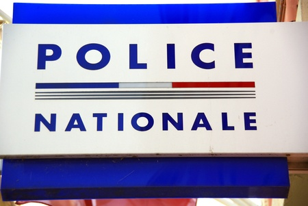 vue: police nationale Stock Photo
