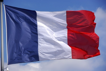 blowed: This is a flag of France Stock Photo