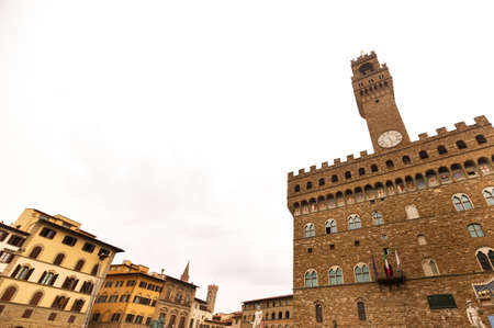 Palazzo Vecchio on Piazza della Signoria, one of the most famous buildings in the city.Florence.Italy.