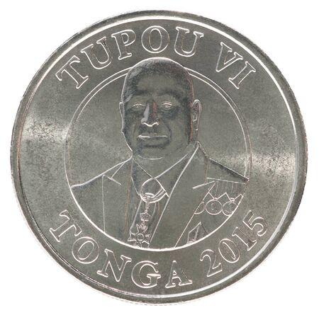 Tonga seniti with the portrait of the King Tupou VI