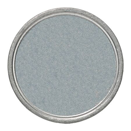 Empty silver coin isolated on a white background 版權商用圖片