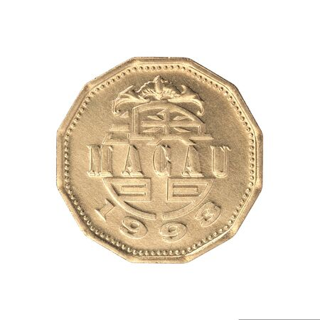 Coin Macau isolated on white background