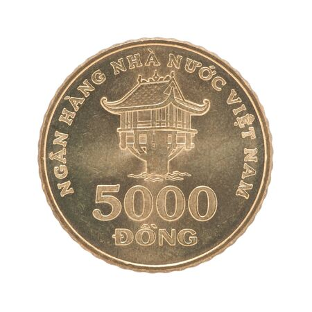5000 Vietnamese Dong with the image of the One Pillar Pagoda