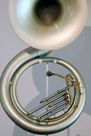 unique trumpet Stock Photo