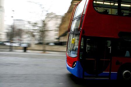 Bus in motion Zdjęcie Seryjne