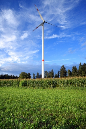Rural wind turbine to provide alternative electrical energy with minimal environmental impact