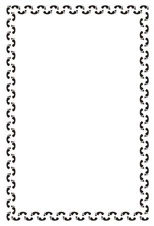 designer frame of the human foot prints