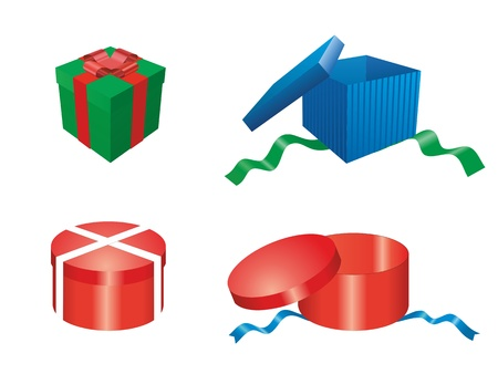 a gift boxes with ribbon and bow
