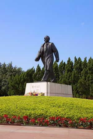 deng xiaoping: Comrade Deng Xiaoping, chief architect of Chinas reform and opening up of the statue Stock Photo
