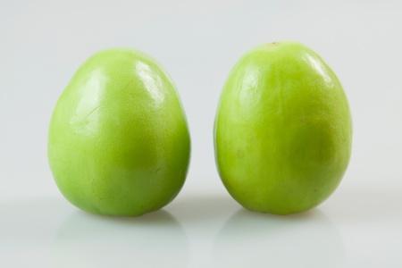 jujube fruits: Two fresh jujube  Stock Photo