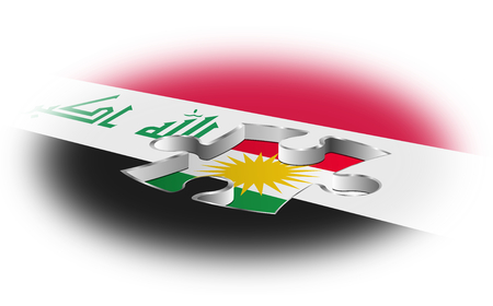 Iraq and Kurdistan, the concept of separatism Stock Photo