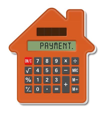 Calculator House, concept investment Standard-Bild