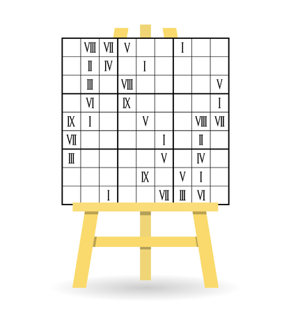 Easel sudoku game, Roman numerals