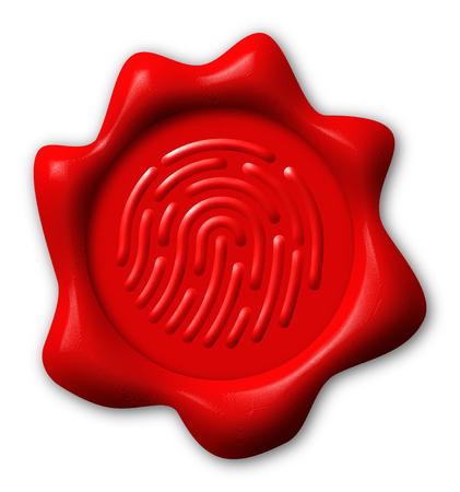 Fingerprint seal, electronic signature concept