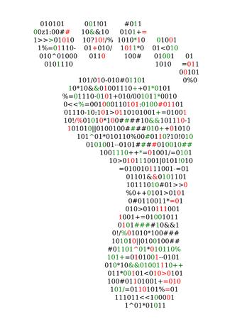 Digital footprint, source code Illustration