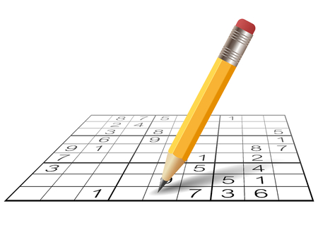 Sudoku game and pencil