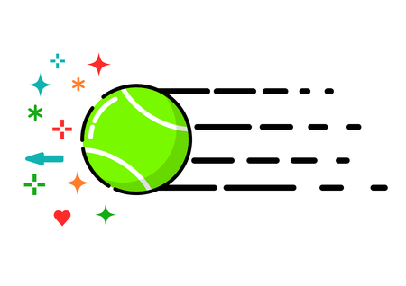 Tennis ball, flat style