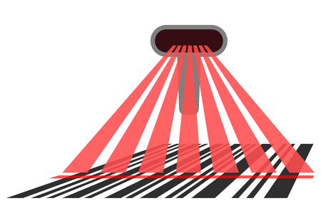 Bar Code Scanner, Illustration in Perspective