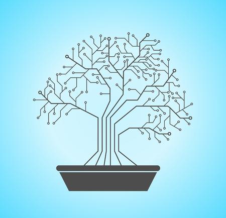 Printed circuit like bonsai