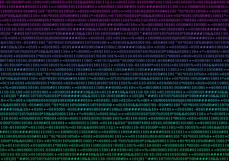 Illustration colorful source code, black background