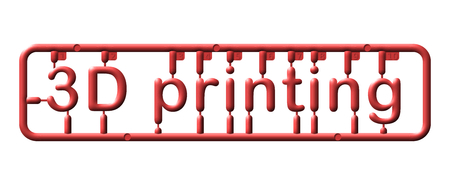 Abstract plastic kit, text 3d printing, illustration industry 4.0 版權商用圖片