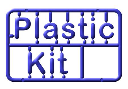 Abstract plastic kit, text, illustration