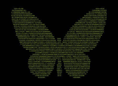 Source code, shape butterfly, vector illustration