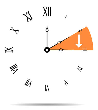 Summer time, Wall clock vector illustration Ilustração