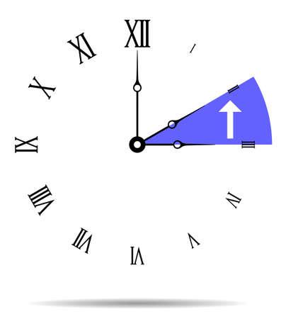 Winter time, Wall clock vector illustration