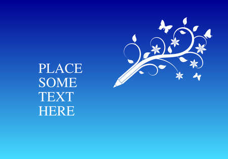 Background with pencil place for your text, vector illustration