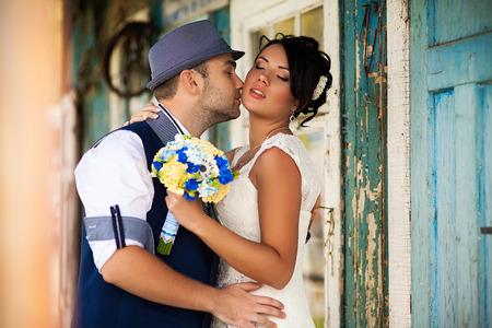 vintage bride: Stylish Autumn wedding a beautiful bride and brave groom