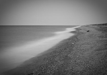seacoast: Seacoast black and white Stock Photo