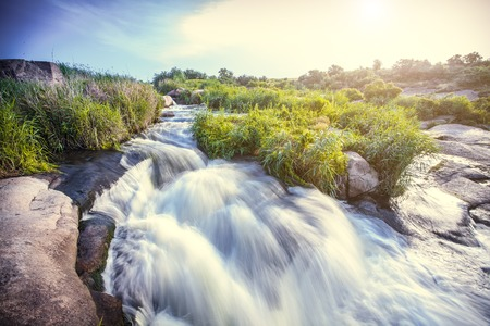 south east: Beautiful nature south east of Ukraine Dnipropetrovsk, river, mountains, skirts