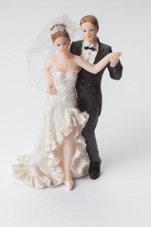 wedding cake: Subject photography studio on a white background Wedding decor Stock Photo