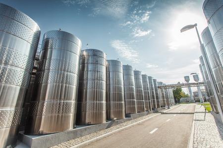 vats: modern wine production South Ukraine stainless steel tanks