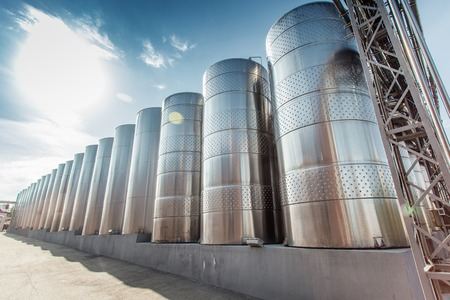 food drink industry: modern wine production South Ukraine stainless steel tanks