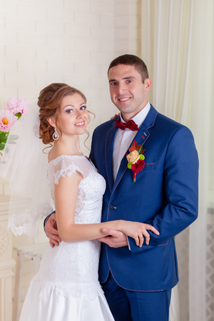 a young old couple: Interior wedding bride and groom love