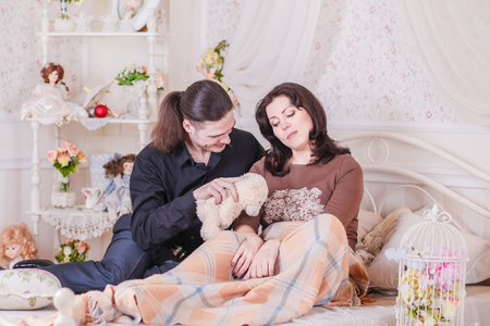 reported: women reported pregnancy love happy Stock Photo