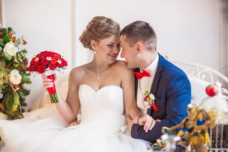 wedding heart: bride groom emotion studio love Stock Photo