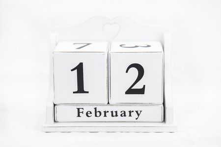 12 month old: calendar february date winter wood