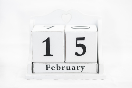15 months old: calendar february date winter wood
