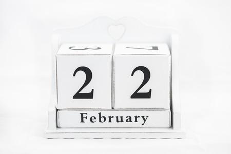 twenty second: calendar february date winter wood
