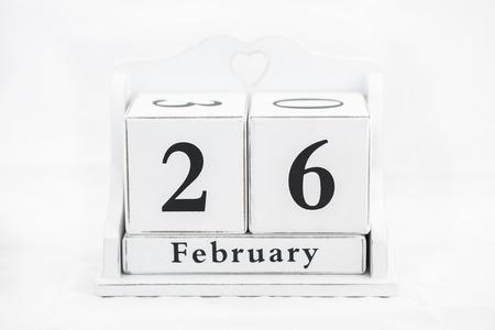 twenty sixth: calendar february date winter wood