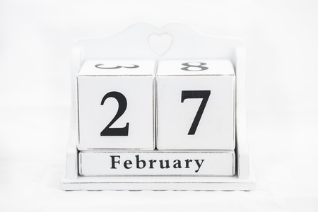 27 years old: calendar february date winter wood