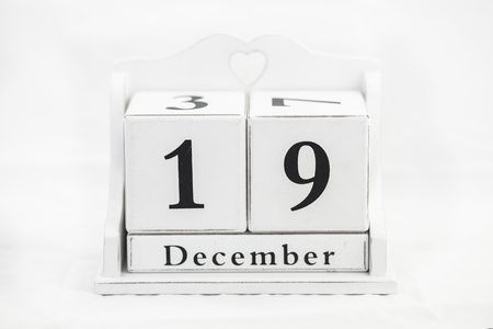 19 years old: calendar december number date cube