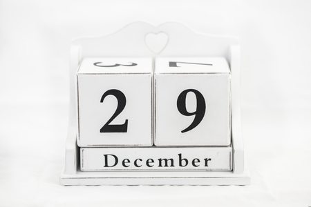 twenty ninth: calendar december number date cube