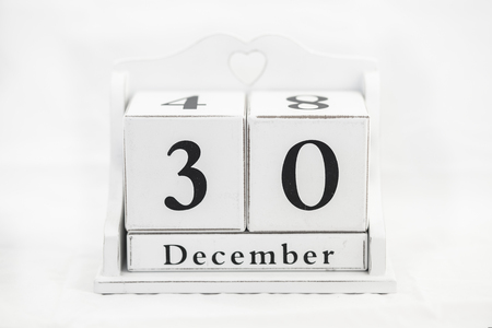 in december: calendar december number date cube