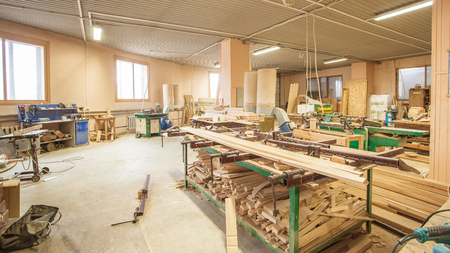 old people: old joinery no people industrial